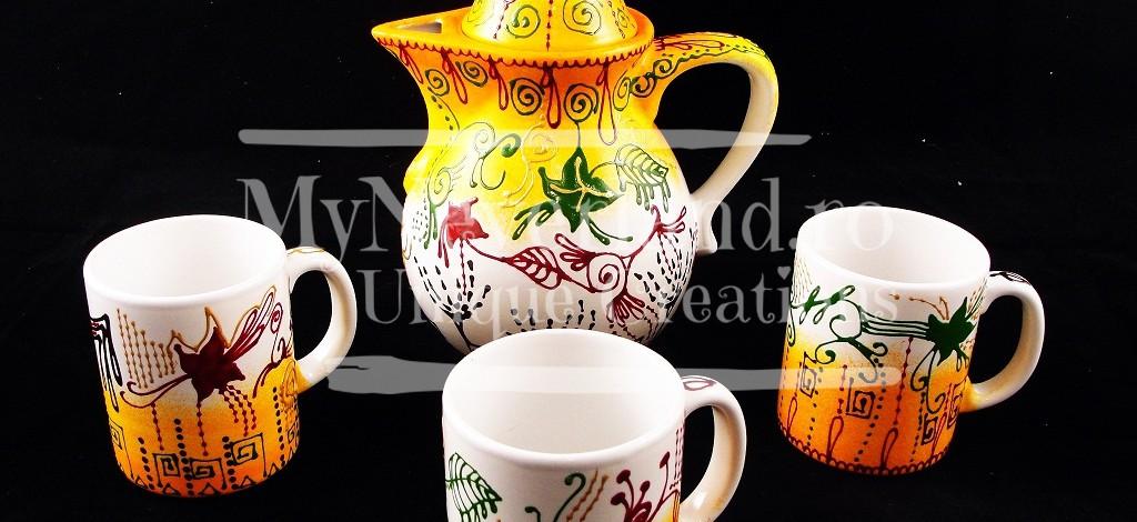 """Set pentru ceai """"Flowers and forms"""""""