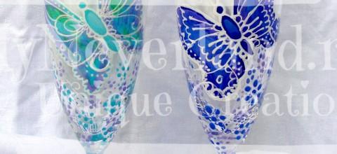 """Set pahare nunta """"Butterflies"""""""