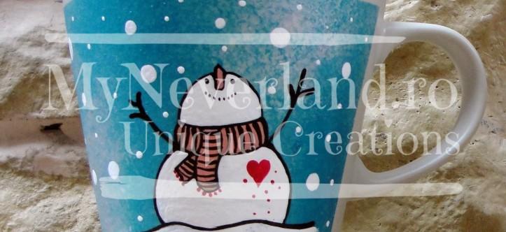 "Cani tematica Craciun ""Let it snow"""