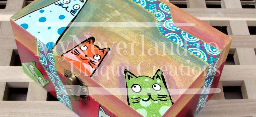 "Cutie pentru bijuterii ""Lots of cats"""