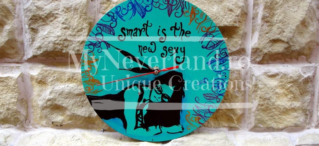 """Ceas de perete """"Smart is sexy"""""""