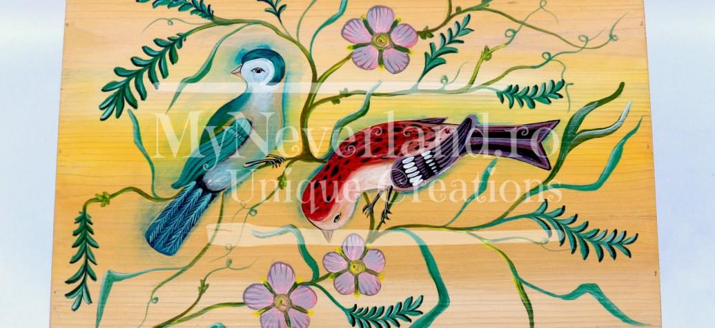 "Cufar bani nunta ""Vintage Birds"""