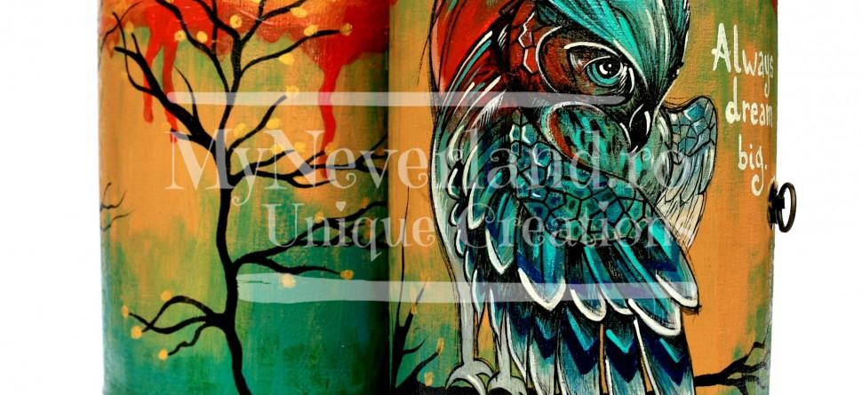 """Dulapior bijuterii """"Tourquoise Owl"""""""