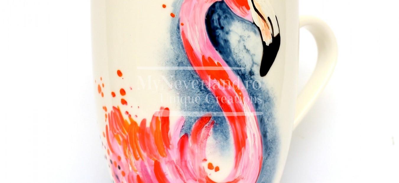 """Cana pictata """"Flamingo"""""""
