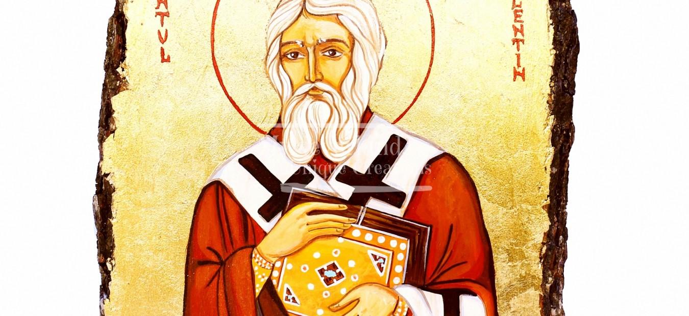 Icoana Sfantul Mucenic Valentin Episcopul Umbriei - Facator de minuni si Vindecator