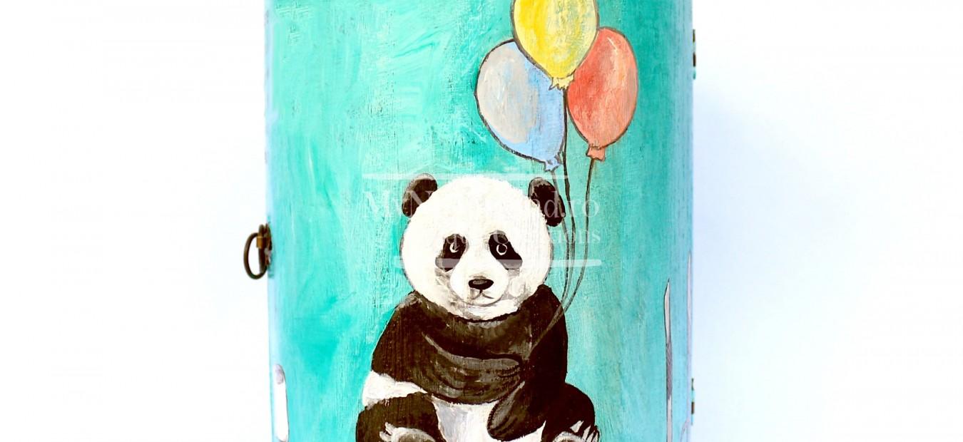 """Dulapior cilindric bijuterii """"Pandas"""""""