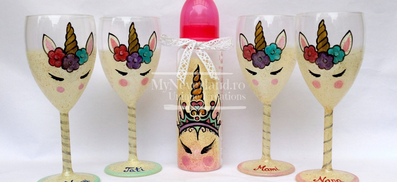 "Set botez ""Happy Unicorn"""