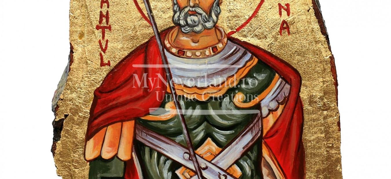 """Icoana """"Sfântul Mina-ocrotitorul celor păgubiți"""""""