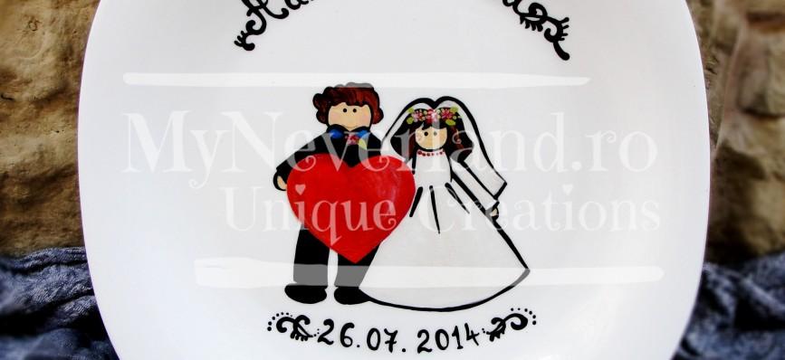 """Wedding Plate """"Heart"""""""