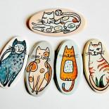 """Brose ceramica """"Nasty Cats"""""""