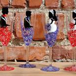 "Set pahare nunta ""Decorated Flowers"""