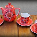 "Set pentru ceai ""Red Ethno Design"""