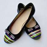 "Pantofi - balerini pictati ""Rainbow"""