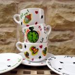 """Set cesti cafea / ceai """"Alice in Wonderland"""""""