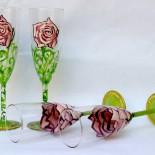 """Set pahare nunta """"Roses"""""""