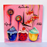 """Ceas de perete """"Sweets for my sweet"""""""