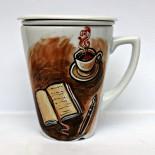 """Cana ceai cu infuzor """"Scrivere"""""""