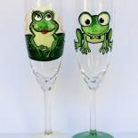 "Set pahare nunta ""Cute Frogs"""