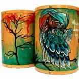 "Dulapior cilindric bijuterii ""Tourquoise Owl"""