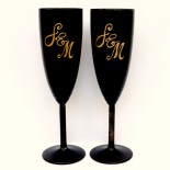 "Set pahare nunta ""Elegant Black"""