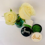 "Set cutiute acceasorii ""Bride&Groom"""