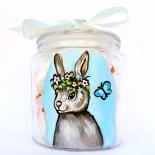 "Borcan sticla ""Cute Bunny"""