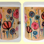 "Dulapior cilindric bijuterii ""Pastel Flowers"""
