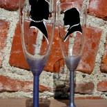 "Set pahare nunta ""Elegant Silhouettes"""