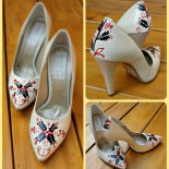 Pantofi pictati pentru nunta