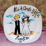 "Wedding Plate ""Happy"""