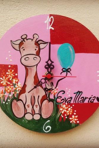 """Ceas de perete pentru camera copiilor """"Girafe"""""""