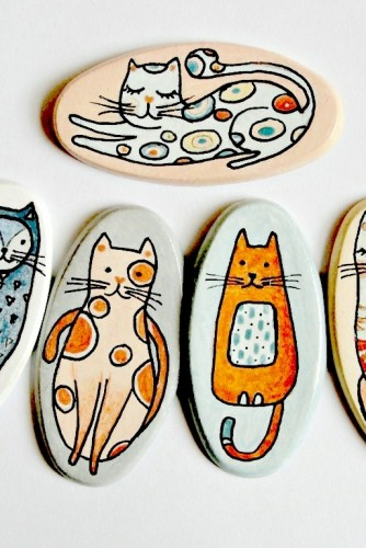 "Brose ceramica ""Nasty Cats"""