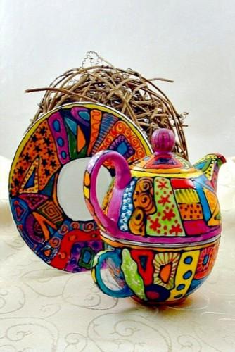 "Set ceai suprapus (Tea for One) ""Electric Mood"""