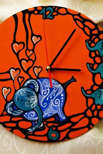 """Ceas de perete """"Blue elephant"""""""