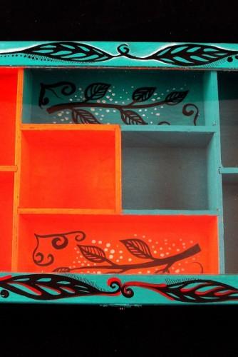 """Cutie de bijuterii """"Orange and Turquoise"""""""