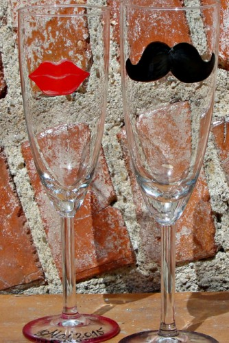 "Pahare nunta ""Lips & Mustache"""
