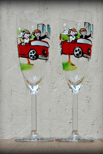"Set pahare nunta ""Red Car"""