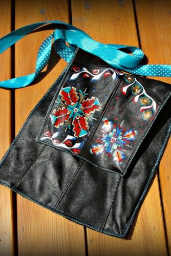 "Geanta piele ""Traditional Designs"""