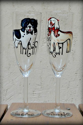 "Set pahare nunta ""Dogs"""