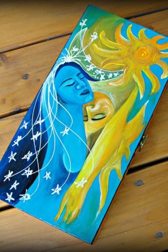 """Cutie bijuterii """"Sun and moon"""""""