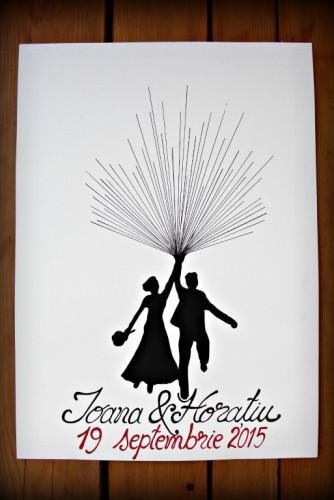 """Ilustratie pentru nunta """"Ballon"""""""