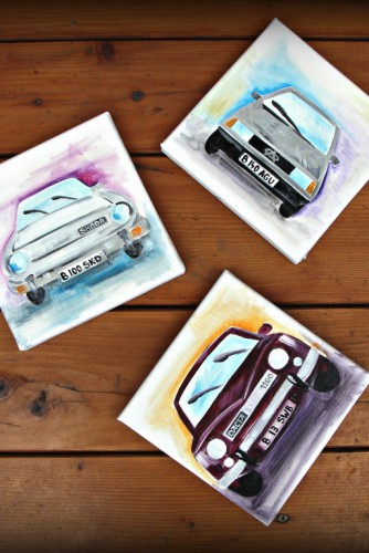 "Triptic ""Old Cars"""