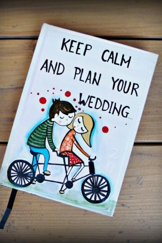 "Agenda Wedding Planner ""Keep Calm"""