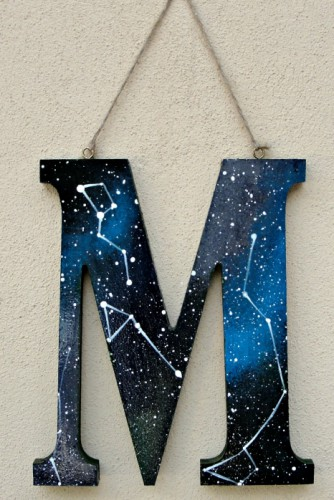 "Litere lemn ""Galaxy"""