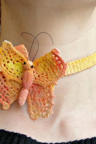 """Set bijuterii crosetate """"Summer Butterflies"""""""