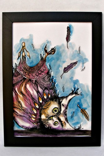 "Ilustratie ""Confused Owl"""