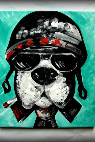 "Tablou ""Aviator Dog"""
