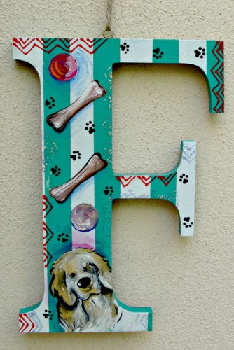"Litere de lemn ""Pet Initials"""