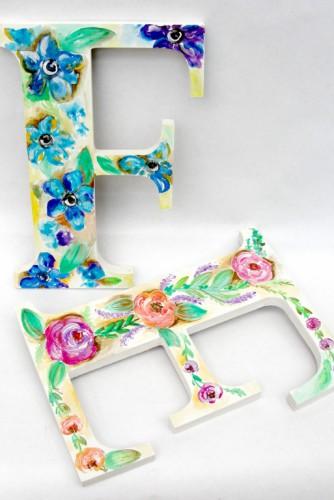 """Litere de lemn """"Flowers"""""""