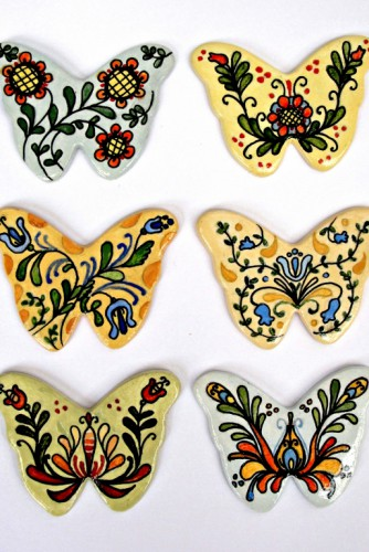 "Brose ceramica ""Decorated butterflies"""